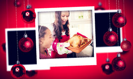 Composite image of christmas photographs Stock Photography