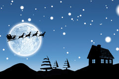 Composite image of christmas scene silhouette Royalty Free Stock Photography