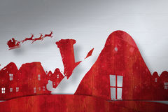 Composite image of christmas scene silhouette Royalty Free Stock Photos