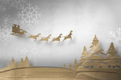 Composite image of christmas scene silhouette Royalty Free Stock Photo