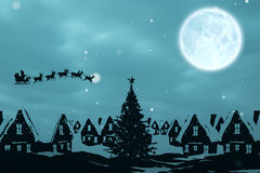 Composite image of christmas scene silhouette Stock Photography