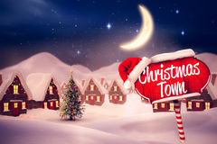 Composite image of christmas town Stock Photo