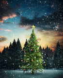 Composite image of christmas tree Royalty Free Stock Photos