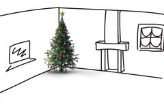 Composite image of christmas tree Stock Image