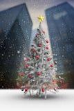Composite image of christmas tree Stock Photo