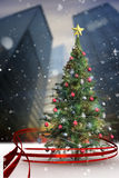 Composite image of christmas tree Stock Images