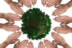 Composite image of circle of hands Stock Photos