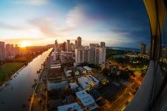 City of Honolulu royalty free stock photo