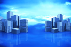 Composite image of cityscape 3d Royalty Free Stock Photo