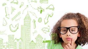 Composite image of cityscape doodle Stock Photos