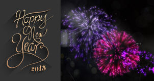 Composite image of classy new year greeting Royalty Free Stock Photography
