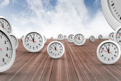 Composite image of clocks Royalty Free Stock Photography