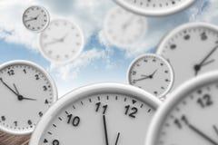 Composite image of clocks Stock Photo