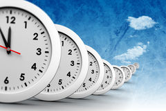 A composite image of clocks Royalty Free Stock Images