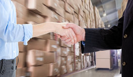Composite image of close up of a business people closing a deal Stock Photos