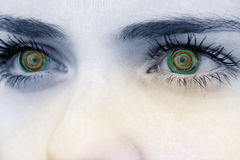 Composite image of close up of female blue eyes Stock Photos