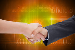 Composite image of close up of a handshake Royalty Free Stock Photos