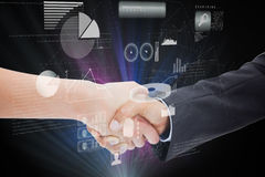 Composite image of close up of a handshake Royalty Free Stock Image