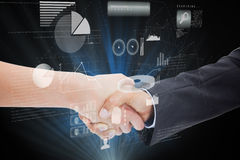 Composite image of close up of a handshake Stock Photography