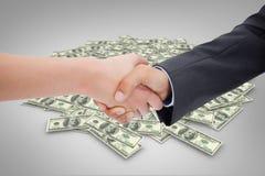 Composite image of close up of a handshake Stock Photos