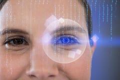 Composite image of close up portrait of businesswoman Stock Image