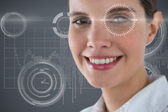 Composite image of close up portrait of smiling businesswoman Royalty Free Stock Image