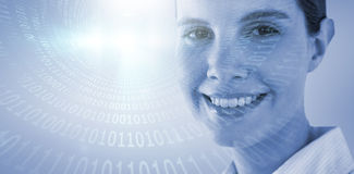 Composite image of close up portrait of smiling businesswoman Royalty Free Stock Photo
