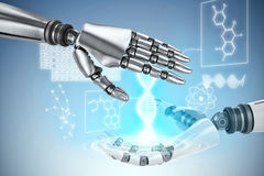 Composite image of close up of robotic hand Royalty Free Stock Photo