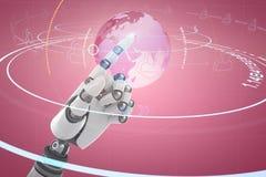 Composite image of close up of shiny robot hand Stock Photos