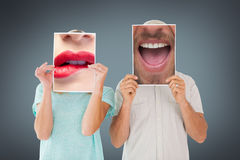Composite image of close up of talking man Royalty Free Stock Photo