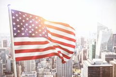 Composite image of close up of the us flag Royalty Free Stock Image