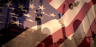 Composite image of close up of the us flag Stock Photos