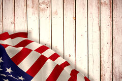 Composite image of close up of the us flag Royalty Free Stock Photos