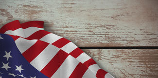 Composite image of close up of the us flag Stock Photo