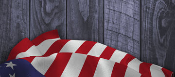 Composite image of close up of the us flag Royalty Free Stock Photo