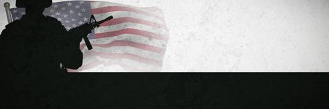 Composite image of close up of the us flag. Close up of the us flag against grey background royalty free stock photos