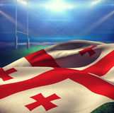 Composite image of close-up of waving georgia flag Royalty Free Stock Photography