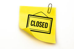 A Composite image of closed sign Stock Photo