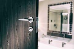 Composite image of closeup of door with doorknob Royalty Free Stock Photos