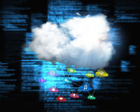 Composite image of cloud computing background Royalty Free Stock Images