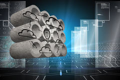 Composite image of cloud computing cycle on abstract screen Stock Photos