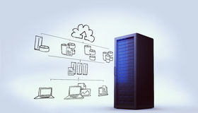 Composite image of cloud computing doodle Royalty Free Stock Images