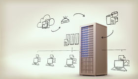 Composite image of cloud computing doodle Stock Photo