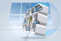 Composite image of cloud computing idea cycle on abstract screen Stock Images