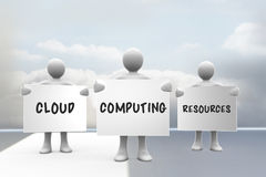 Composite image of cloud computing resources Royalty Free Stock Image