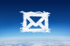Composite image of cloud email Stock Photo