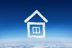 Composite image of cloud house Royalty Free Stock Photo