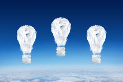 Composite image of cloud light bulbs Royalty Free Stock Images