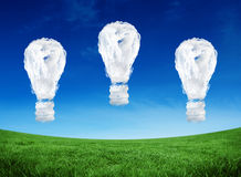 Composite image of cloud light bulbs Royalty Free Stock Photo