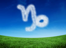 Composite image of cloud in shape of capricorn star sign Stock Photos